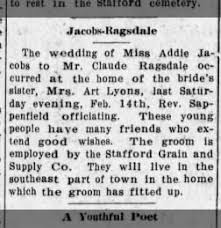 Stafford Courier from Stafford, Kansas on February 19, 1914 · 4
