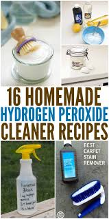 16 hydrogen peroxide cleaner recipes to