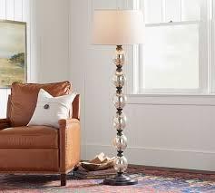 stacked mercury glass floor lamp
