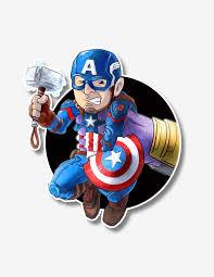 Thetonus Character Prints And Original Artwork Captain America Thanos Vinyl Sticker