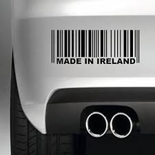 South Coast Stickers Made In Ireland Barcode Sticker Funny Bumper Sticker Car Van 4x4 Window Paintwork Decal Euro Laptop Drive South Coast Stickers