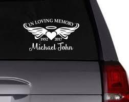 In Loving Memory Car Decal Etsy