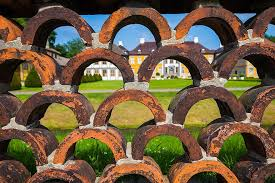 Castle Park Wall Fence Stone Wall Masonry Building Brick Arches By Looking Barrier Historic Center Pikist