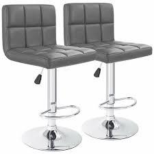 grey leather bar stool wayfair