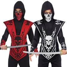 skull lord ninja boys fancy dress