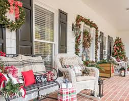 wonderful christmas front porch