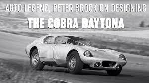Cobra Daytona Designer, Peter Brock ...