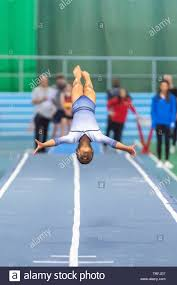 Sheffield, England, UK. 1 June 2019. Abigail George of Pinewood Gymnastics  Club in action during Spring Series 2 at the English Institute of Sport,  Sheffield, UK Stock Photo - Alamy