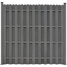 Vidaxl Wpc Fence Panel With 2 Posts 180x180cm Square Grey Garden Patio Barrier Amazon Co Uk Kitchen Home