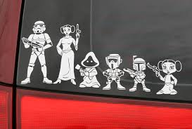 Star Wars Family Car Decals Star Wars Decal Family Decals Family Stickers