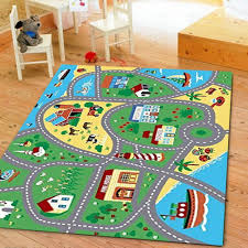 Furnish My Place City Street Map Children Learning Carpet Kids Rugs Boy Girl Nursery Bedroom Playroom Classrooms Play Mat Rectangle 33 L Kids Playroom Decor Kids Rugs Boy Girl Nursery