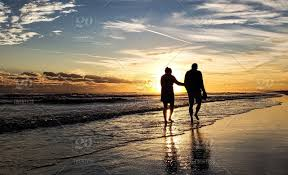 Image result for coouple on beach sunset