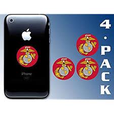 Amazon Com American Vinyl 4 Pack Round Marine Corps Logo Stickers Usmc Insignia Cell Phone Laptop Automotive