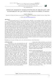 pdf effect of amaranth maize flour