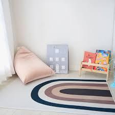 Rainbow Kids Rug Floor Mat Tapete Quarto Anti Slip Boho Children Playmat Baby Room Nursery Decor Tummy Time Rugs For Bedroom Rug Aliexpress