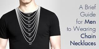 men to wearing chain necklaces