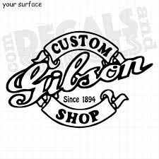Gibson Custom Shop Logo Vinyl Decals Paint Stencils