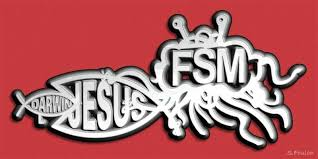 All Hail Fsm Flying Spaghetti Monster Bumper Stickers Atheist Humor