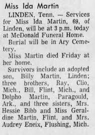 Obituary for Ida Martin (Aged 69) - Newspapers.com