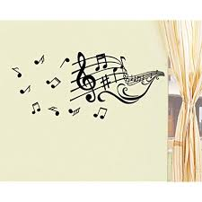 Bibitime Diy Music Notation Staves Vinyl Wall Decal Musical Notes Stickers For Dancing Classroom School N Wall Stickers Murals Vinyl Wall Decals Kid Room Decor