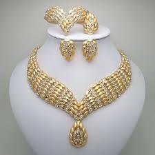2019 fashion african dubai gold jewelry