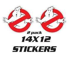 2 Stickers Ecto 1 Ghostbusters Car Replica Ghostbuster Decals Ebay