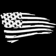 Amazon Com Tattered American Flag Vinyl Sticker Automotive