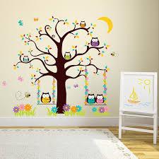 Harriet Bee Owl Tree Wall Decal Reviews Wayfair