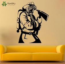 Wall Decal Fireman Wall Stickers Livingroom Removable Vinyl Boys Bedroom Headboard Interior Home Decor Houseware Diy Wall Murals Decals Wall Murals Stickers From Onlinegame 12 30 Dhgate Com
