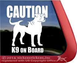 American Bulldog Window Decal Nickerstickers