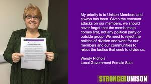 John's Labour blog: Wendy Nichols UNISON NEC Candidate Local Government  Female Seat