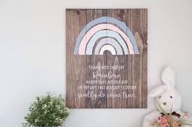 Amazon Com Rainbow Nursery Wall Art Gender Neutral Nursery Decor Kids Room Decor Nature Themed Nursery Handmade