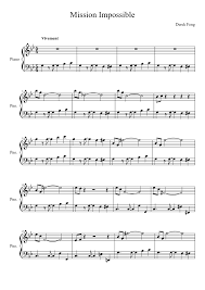 Mission Impossible Sheet music for Piano