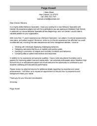 best behavior specialist cover letter