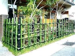 Bamboo Fence Screen Small Garden Fence Ideas Wanderinc Co