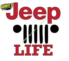 Jeep Life Decal Jeep Decal Color Options Size Options Magents Jamies Decals