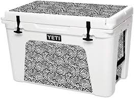 Amazon Com Mightyskins Skin Compatible With Yeti Tundra 105 Qt Cooler Abstract Black Protective Durable And Unique Vinyl Decal Wrap Cover Easy To Apply Remove And Change Styles Made In The Usa