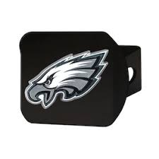 Fanmats Philadelphia Eagles 3d Metal Chrome Emblem On Black Hitch Cover In The Exterior Car Accessories Department At Lowes Com
