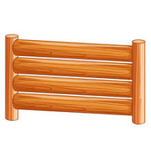 Fence Clipart Wooden Vector Images Over 240