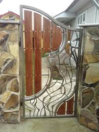 awesome wood and metal gate fence