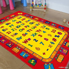 Shop Allstar Kids Baby Room Area Rug Learn Abc Alphabet With Bright Colors With Capital And Lowercase Letters 7 3 X 10 2 Overstock 11669980