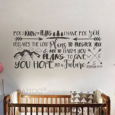 Battoo For I Know The Plans I Have For You Vinyl Lettering Explorer Nursery Wall Decal Arrows Mountains Nursery Wall Decal Bible Quote Jeremiah 29 11 Nursery Wall Decals Vinyl Lettering Nursery
