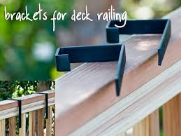 How To Mount Flower Boxes On Deck Railing Deck Railings Deck Rail Bracket Deck Railing Planters