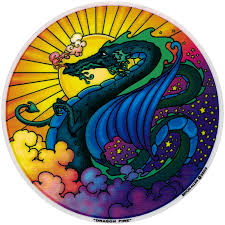 Dragon Fire Window Sticker Decal Peace Resource Project