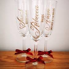 Champagne Flute Decals Wine Glass Decal Wedding Decals Etsy