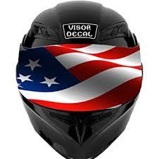 Amazon Com V19 American Flag Visor Tint Decal Graphic Sticker Helmet Fits Icon Shoei Bell Hjc Oneal Scorpion Agv Automotive
