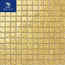 wave glass gold mosaic for temple