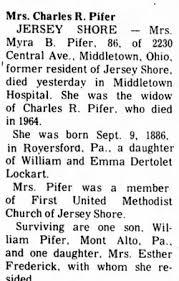 Myra Bell Lockart Pifer (1886-1969) - Find A Grave Memorial