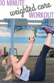 weighted core workout a 10 minute