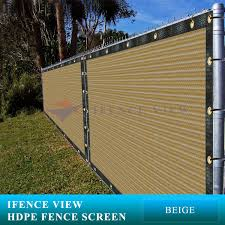 Ifenceview 4 X20 Brown Shade Cloth Fence Privacy Screen Fabric Mesh Net For Construction Site Yard Driveway Garden Railing Canopy Awning 160 Gsm Uv Protection Buy Online In Singapore Ifence